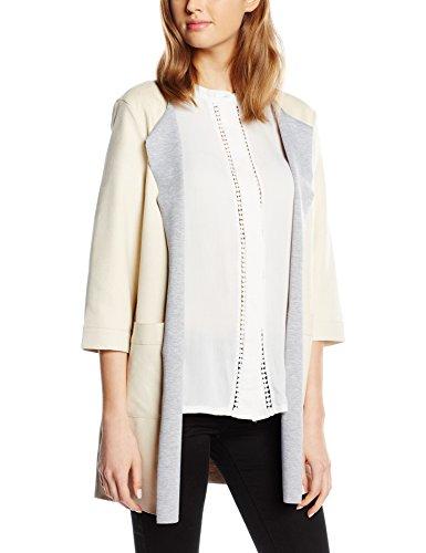 ONLY Damen Mantel Onlseventy Faux Suede Spring Coat Otw, Weiß (Bone White), 38 (Herstellergröße: M)