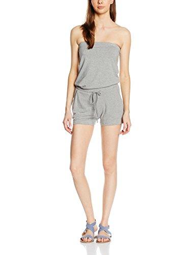 ONLY Damen Onlmia Tube Jumpsuit Ess, Grau (Light Grey Melange), 38 (Herstellergröße: M)