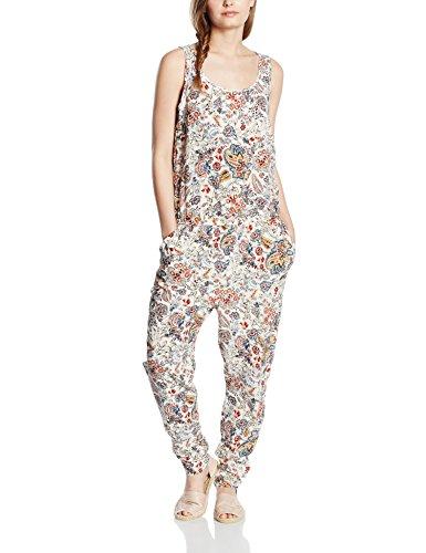 ONLY, Damen Overall, Onlnova Bright S/L Jumpsuit WVN, Mehrfarbig (Whitecap Gray AOP:Bright Autumn Flower), 38