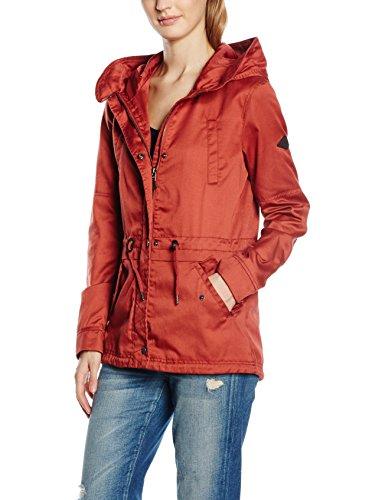 ONLY Damen Parka Jacke onlTODAY SHORT SPRING JACKET OTW, Gr. 40 (Herstellergröße: L), Rot (Marsala)