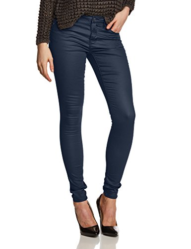 ONLY Damen Skinny Jeans Ultimate Soft Reg. Coated Noos, Gr. 38/L32 (Herstellergröße: M/32), Blau (Navy Blazr)
