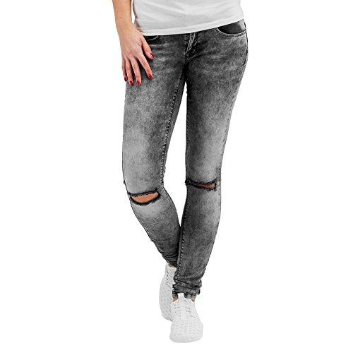 ONLY Damen Skinny Jeanshose onlCORAL SL SK KNEECUT JEANS CRE1226 alc, Gr. W27/L30 (Herstellergröße: 27), Grau (Medium Grey Denim)