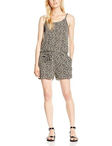 ONLY Damen Straight Leg Overall 15105772, Gr. 40, Mehrfarbig (Black)