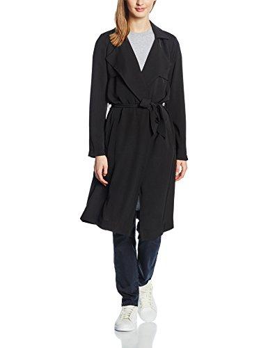 ONLY Damen Trenchcoat Mantel onlMADISON DRAPY OTW, Gr. 40, Schwarz