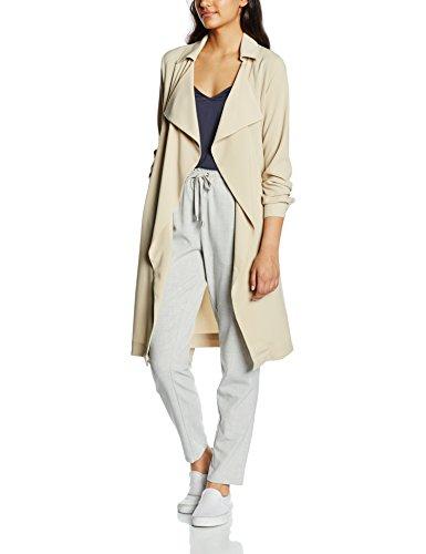ONLY Damen Trenchcoat Mantel onlTAYLOR LONG OTW, Gr. 36 (Herstellergröße: S), Grau (Feather Gray)