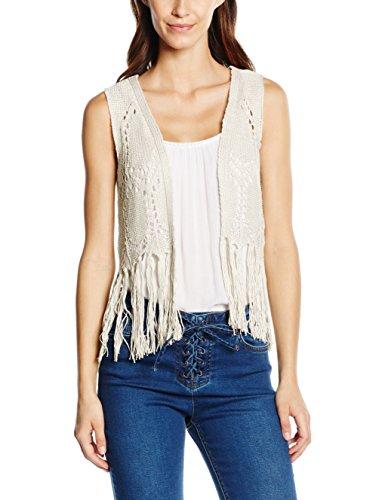 ONLY Damen Weste Onlpetra S/L Short Waistcoat Knt, Weiß (Cloud Dancer), 40 (Herstellergröße: L)