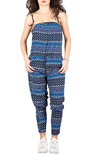 ONLY - Damen blau anzug nova ditsy jumpsuit 36 blau