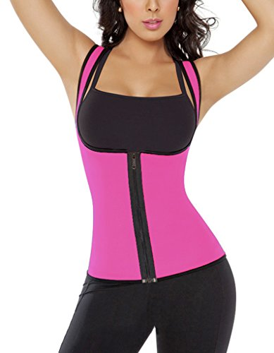 OOFIT Damen Unterbrust Korsett Training Sport Shaper Body Latex Corsage Bauchweg Tailenmieder