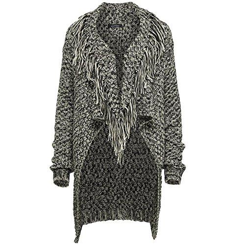 Only Altin LS Fringe Knit Cardigan 15112893-L