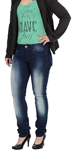 Only Damen Jeans, Damenjeans, Hüftjeans Skinny Low Sandra, Größe:W29/L32;Farbe:Blue B12