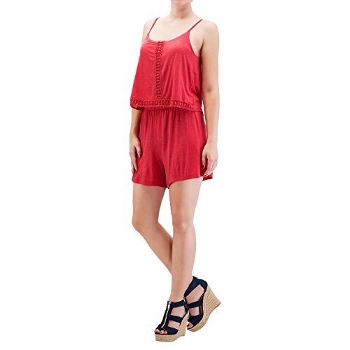 Only Damen Jumpsuit Rot rot