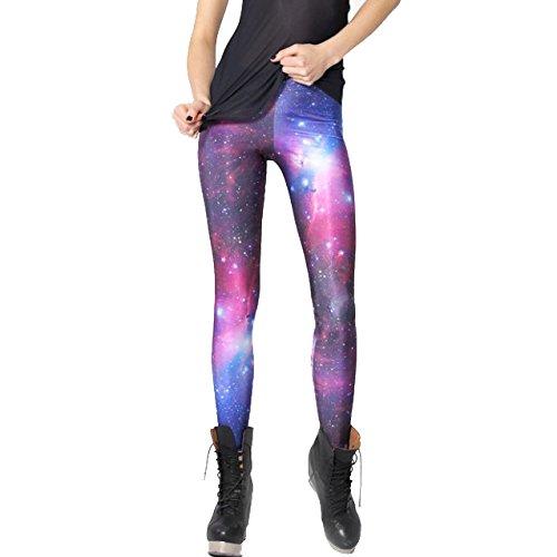 TOYU Original-Design estress Tattoo Leggings Galaxy Sterne Print Style Comic Destroy Graffiti Muster Galaxy DDK10477