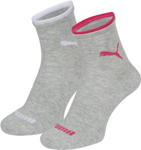 PUMA Damen Socke Lifestyle Short 2P, 035_light grey melange, 39-42, 203201001035039