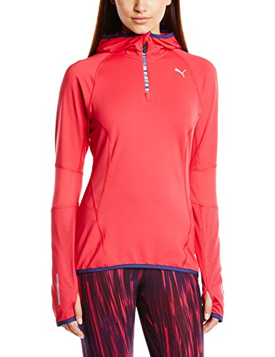 PUMA Damen Sweatshirt PR Core Long Sleeve 1/2 Zip Hoody, Virtual Pink, L, 512503 02
