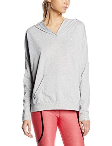 PUMA Damen Sweatshirt Style P Best Cover Up W, Light Gray Heather, S, 836411 04
