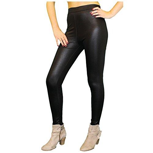 Pardalix Damen Leggings Teddy Fleece, Größe:XS/S;Farbe:LederOptik