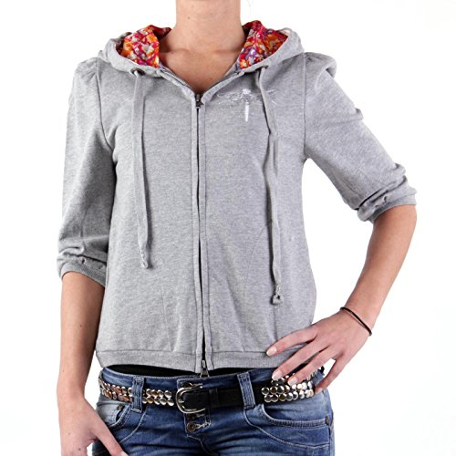 REPLAY Damen Kapuzen Sweatjacke Grey W3007 Größe S