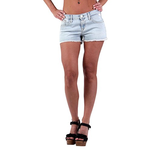 REPLAY Damen Sommer Hotpants Shorts Denim Light Blue WV663T, Blau, 27