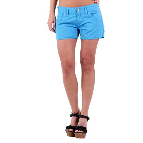 REPLAY Damen Sommer Leinen Shorts Blue WV632 Größe 26