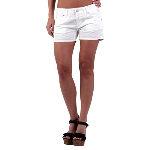 REPLAY Damen Sommer Leinen Shorts White WV632 Größe 26