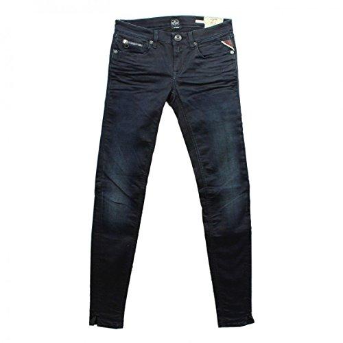 REPLAY Jeanshose WX649 ALANIES dunkelblau schwarz blau Jeans Skinny Fit Röhre, Hosengröße:W27/L32