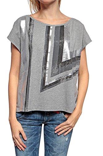 Replay Damen Shirt BOXY CUT, Farbe: Grau, Größe: M