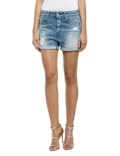 Replay Damen Short WA611 .000.443 783, Gr. W31, Blau (Blue 9)