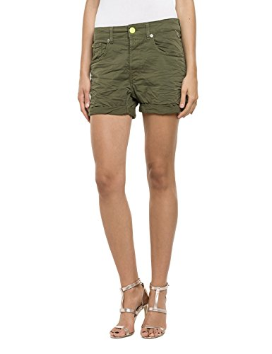 Replay Damen Short WA611 .000.8055180, Gr. W26, Grün (MILITARY GREEN 40)