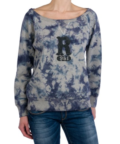 Replay Damen Sweatshirt W3070 .000.21116, Gr. 38 (M), Blau (177)