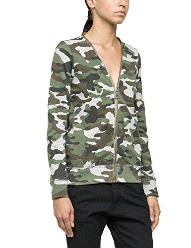 Replay Damen Sweatshirt W3654 .000.71022, Gr. 36 (Herstellergröße: S), Mehrfarbig (Camouflage 10)