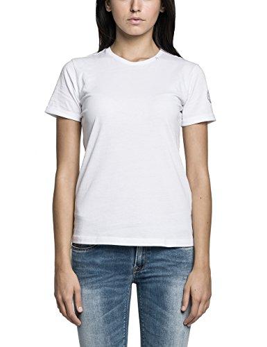 Replay Damen T-Shirt Casual W3651 .000.20994, Einfarbig, Gr. 34 (Herstellergröße: XS), Weiß (OPTICAL WHITE 1)