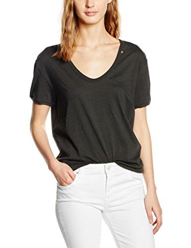 Replay Damen T-Shirt W3713 .000.22042P, Gr. 42 (Herstellergröße: XL), Schwarz (NEARLY BLACK 99)
