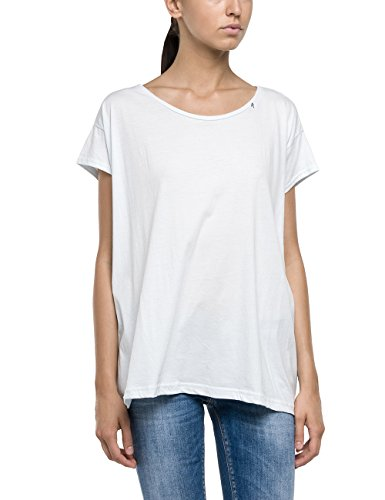 Replay Damen T-Shirt W3716 .000.22042P, Gr. 34 (Herstellergröße: XS), Weiß (OPTICAL WHITE 1)