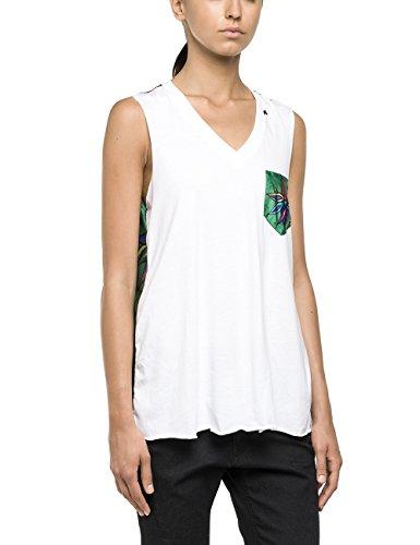 Replay Damen T-Shirt W3781 .000.10155, Gr. 36 (Herstellergröße: S), Weiß (White 10)