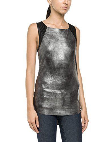 Replay Damen Top W3741 .000.20547, Gr. 36 (Herstellergröße: S), Grau (DARK GREY 10)