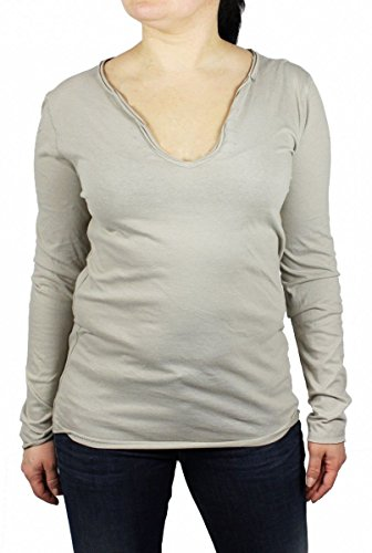 Replay W3690 Langarmshirt Longshirt Longsleeve DONNA Shirt , Größe:M;Farbe:hellbraun