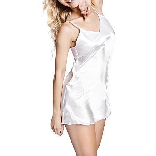 SOPHIE – Nachthemd / Negligee / Nachtwäsche / Unterwäsche aus der Sophie Bernard Kollektion. Fühl dich wohl! S-Größe / weiß (ecru hell)