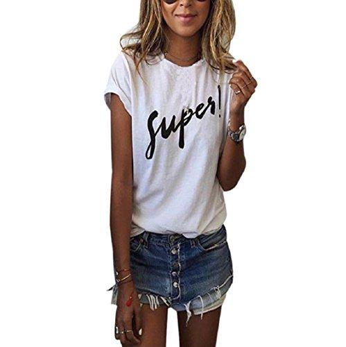 Sannysis Damen Sommer-Kurzarmshirts T-Shirt (M)