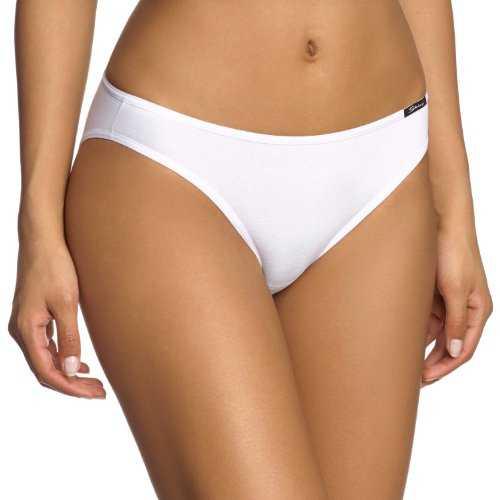 Skiny Damen Rio Slip Essentials Women Rio Slip, Gr. 38, Weiß (0500 WHITE)