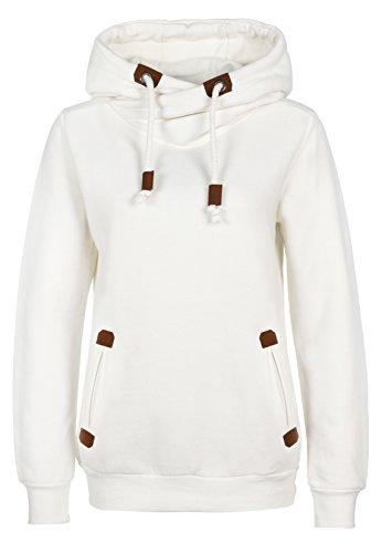 SUBLEVEL Sweatshirt Kapuzenpullover | Hoodie sportlich-elegant für Damen - Top QualitÄt und Tragekomfort dank hohem Baumwollanteil white S