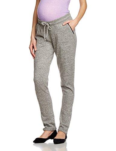 Supermom Damen Relaxed Umstandshose Pants loose UTB Melee, Gr. 36 (Herstellergröße: S), Grau (Grey Melange C246)
