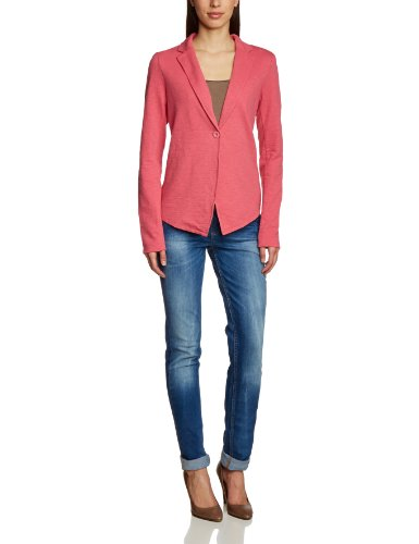 TOM TAILOR Damen Sweatshirt springtime sweat blazer/402, Einfarbig, Gr. 44 (Herstellergröße: XXL), Rosa (light peony rose)