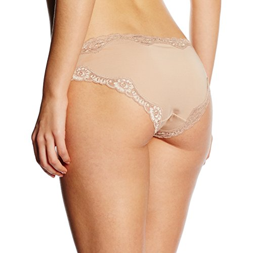 Triumph Damen Slip Brief Micro and Lace Min , Gr. 36 (Herstellergröße: S (36/38)), Beige (SMOOTH SKIN 5G)
