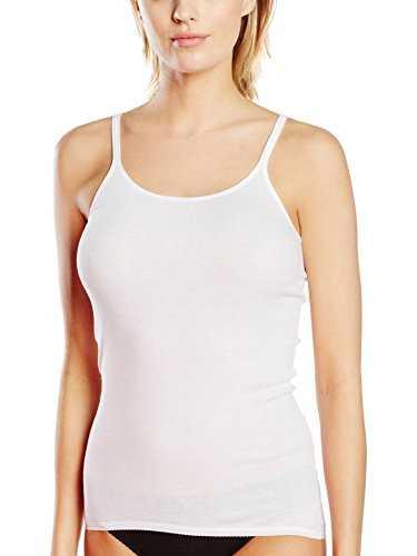 Triumph Damen Unterhemd Katia Basics Sh 01 Long, Gr. 42, Weiß (WHITE 03)