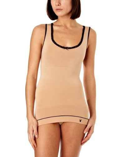 Triumph Damen Unterhemd, Smooth Sensation Shirt 02 , Gr. 36, Mehrfarbig (BROWN - LIGHT COMBINATION)