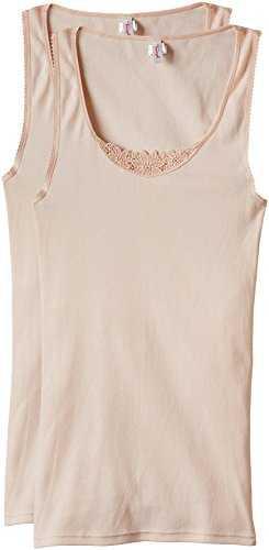 Triumph Damen Unterhemd Yselle Basics Shirt02 2P (1PL32), Gr. 48, Beige (NUDE BEIGE NZ)