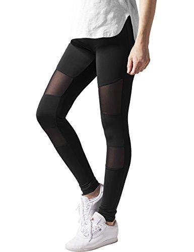 Ladies Tech Mesh Sport Leggings Yoga Pants schwarz M