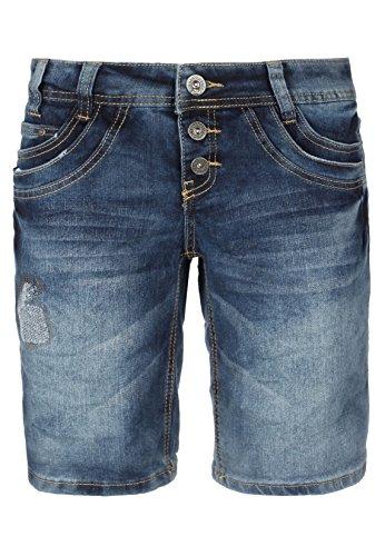 Urban Surface Damen Jeans Bermuda-Shorts | Kurze Hosen aus Denim für den Sommer dark-blue S