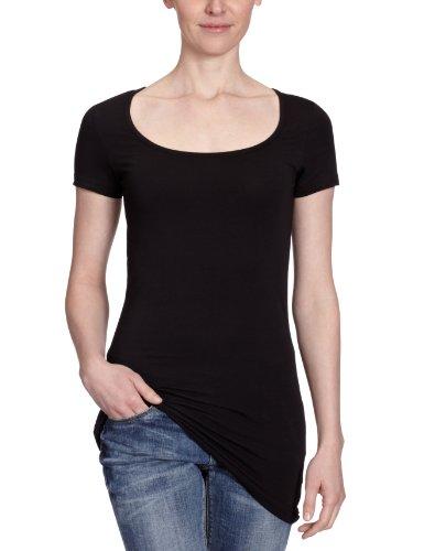 VERO MODA Damen T-Shirt, 10059321, Gr. 42 (XL), Schwarz (BLACK)