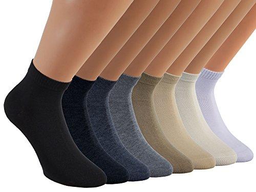 Vitasox 15270 Damen Kurzsocken Baumwolle Sneakersocken uni Damensocken ohne Naht Natur-Töne 6er Pack 35/38